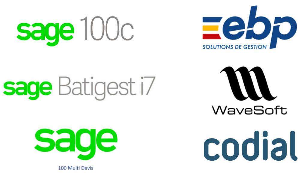 Logos des ERP pris en charge